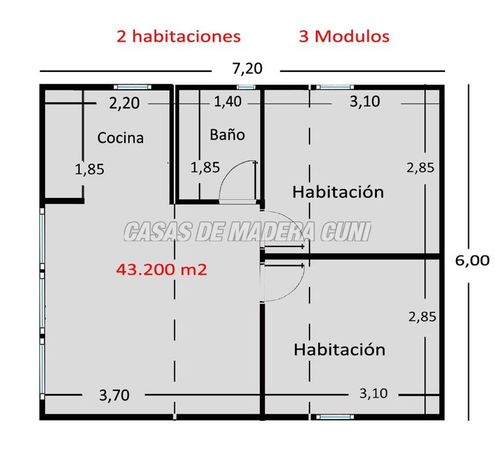 Planos casas de madera y bungalows en tarragona - Casetas de madera pequenas ...