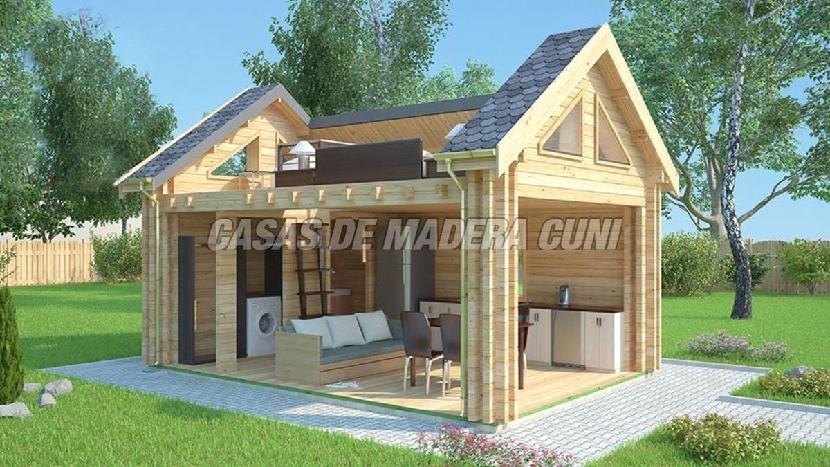 Modelos tradicionales con tejado a dos aguas casas de for Tejados de madera a dos aguas